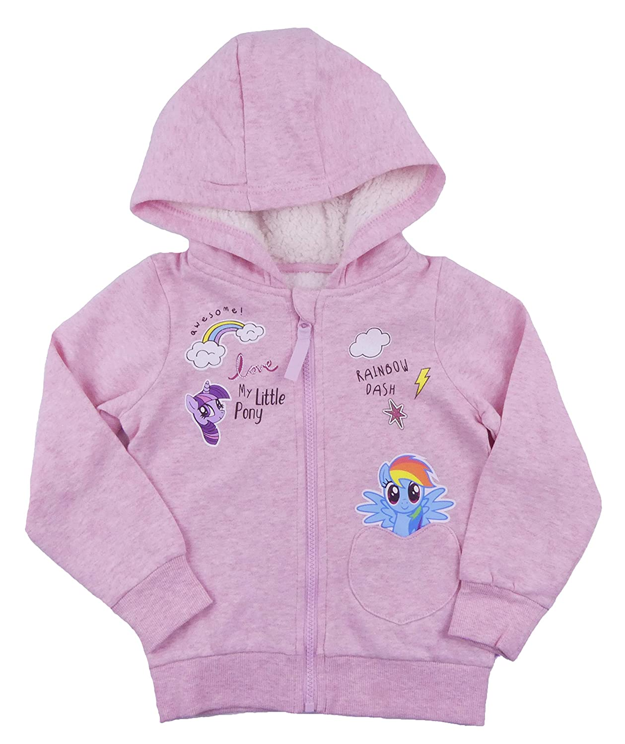 Girls My Little Pony Hooded Jacket 2-3 Years up to 6-7 Years