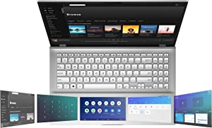 "Asus Vivobook S15 S532 Thin & Light Laptop, 15.6"" FHD, Intel Core i5-10210U CPU, 8GB DDR4 RAM, 512GB PCIe SSD, Windows 10 Home, Ir Camera, S532FA-DH55, Transparent Silver-Metal (Renewed)"