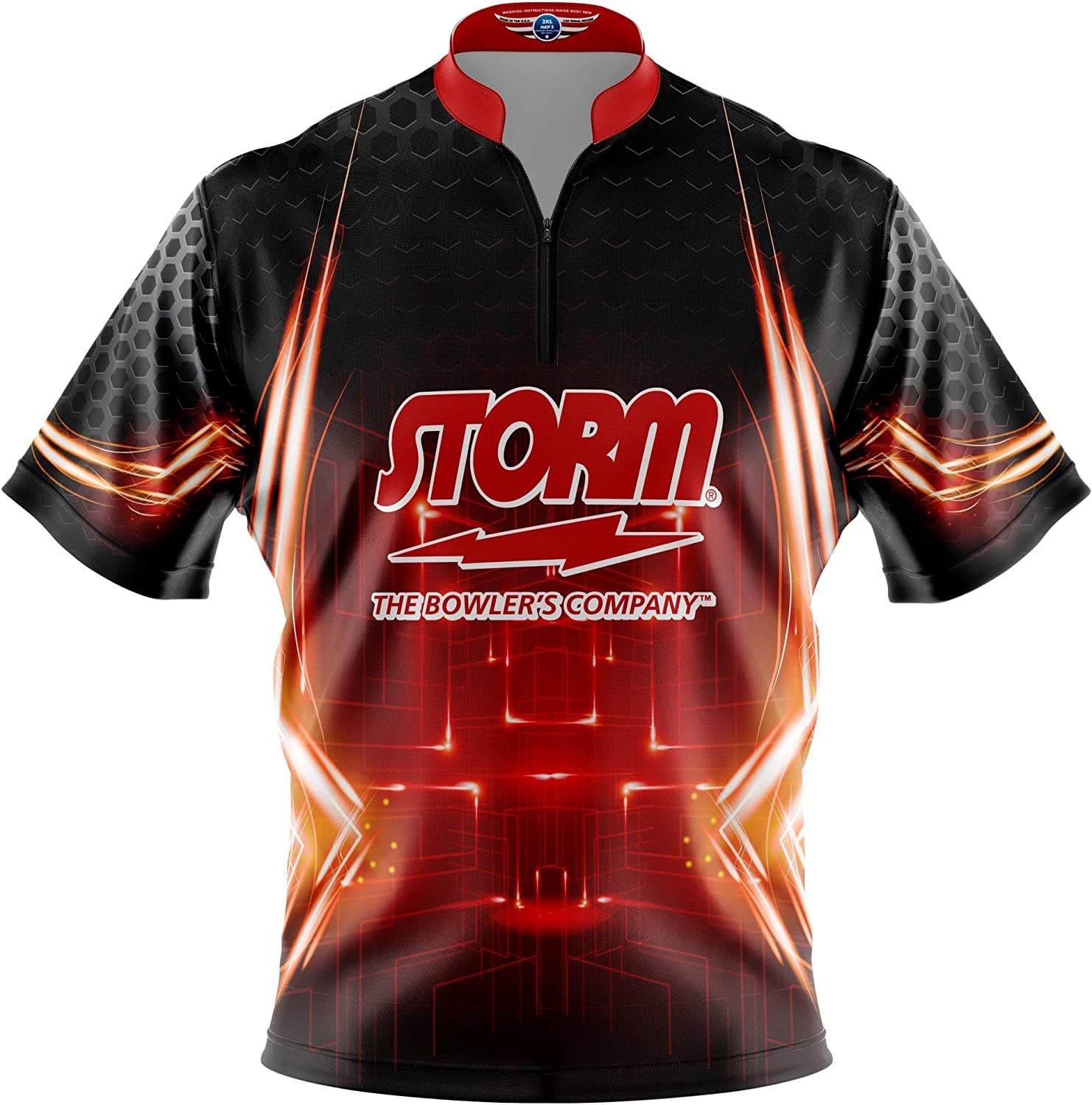 Logo Infusion Bowling Dye-Sublimated Jersey (Sash Collar) - Storm Style 0247ST