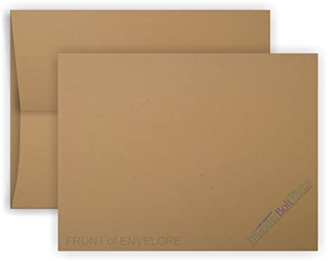 amazon com 100 brown kraft fiber envelopes a 7 size 5 25 x 7 25
