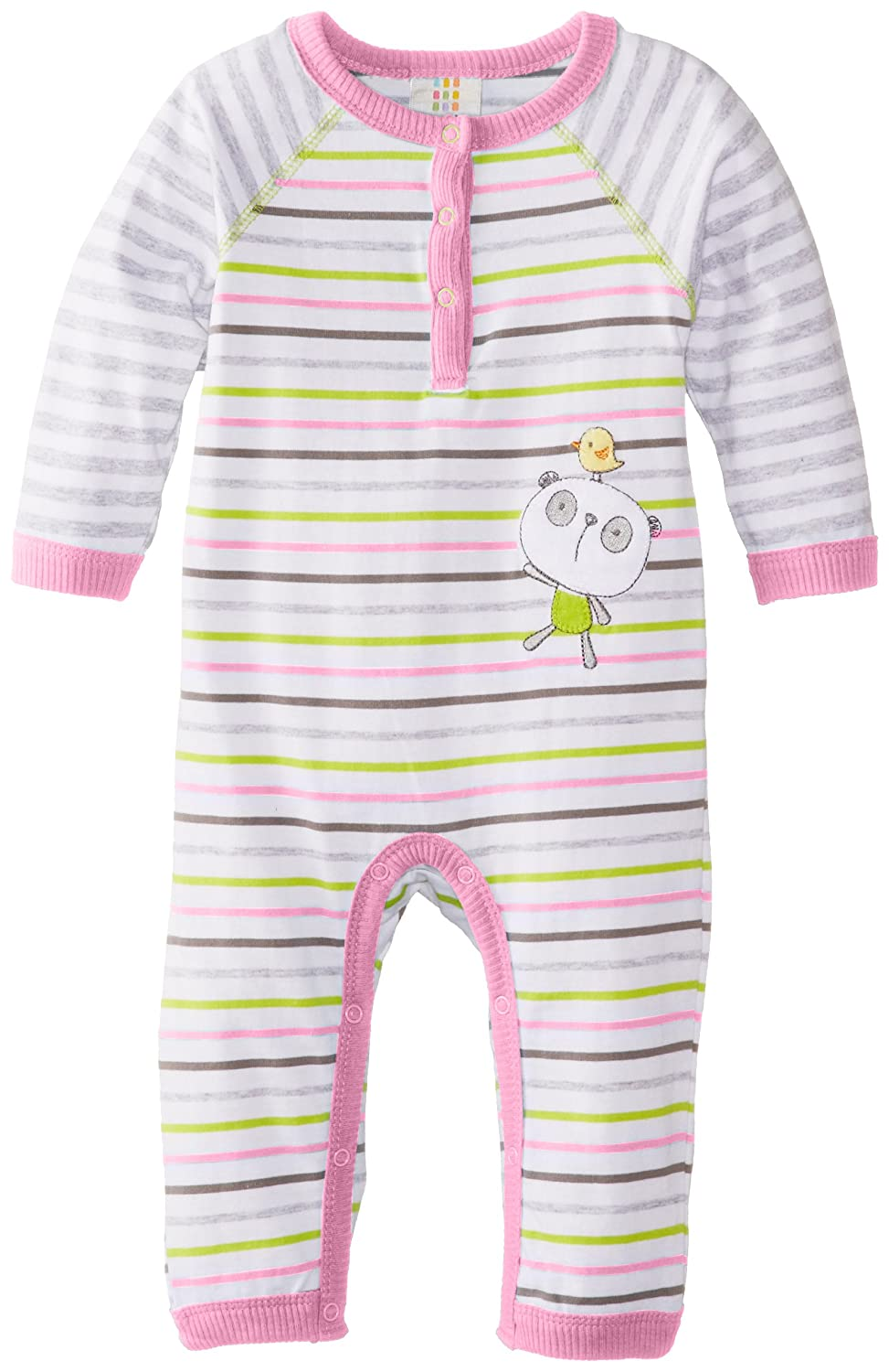 ABSORBA Baby-Girls Newborn Tender Touch Coverall with Bib