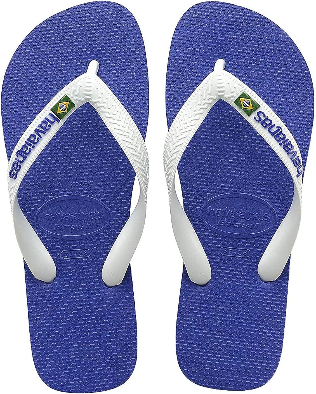 Marine Blue 8 Havaianas Mens Brasil Logo Flip Flop Sandals