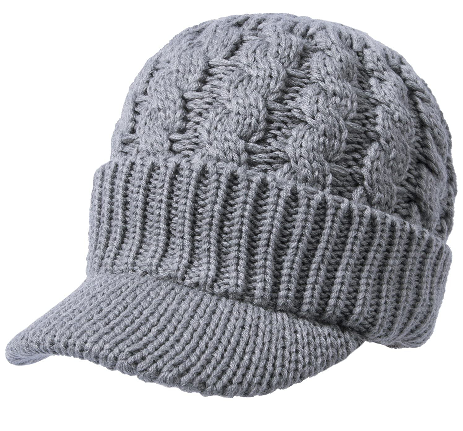bf84bd85017 Amazon.com  Sierry Cable Knit Hat