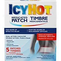 Icy Hot Medicated Patch, 5 Count, Fast, Long-Lasting Muscle and Joint Pain Relief, Targeted and Effective Pain Relief of Simple Backaches, Lumbago, Strains and Sprains, Arthritis