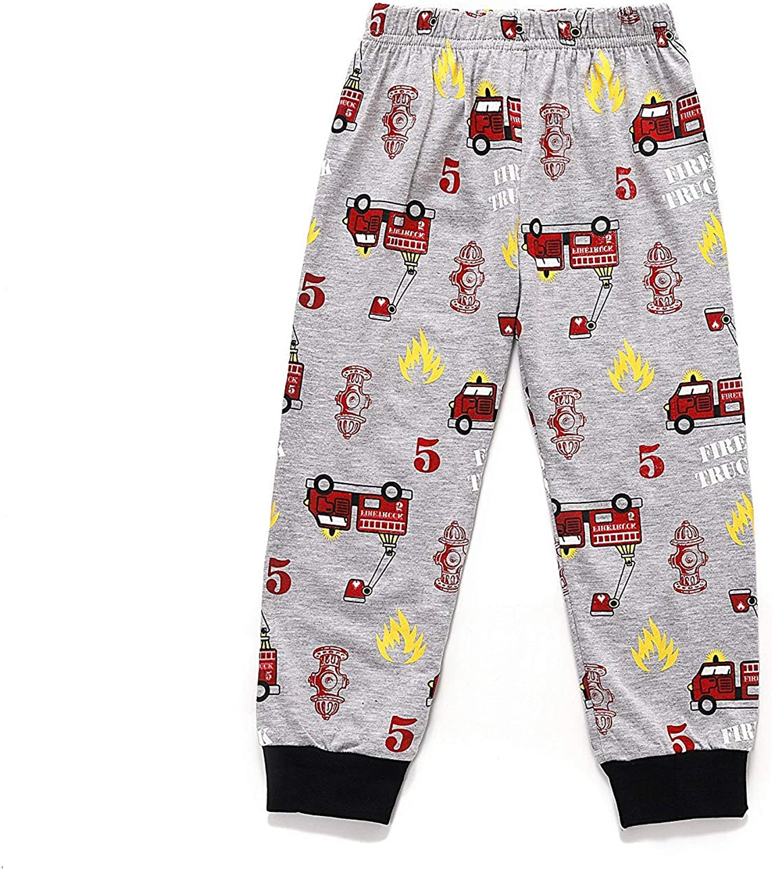 Boys Pajamas Train 100/% Cotton Toddler Pjs 2 Piece Kids Sleepwear Clothes Set 2T-7T