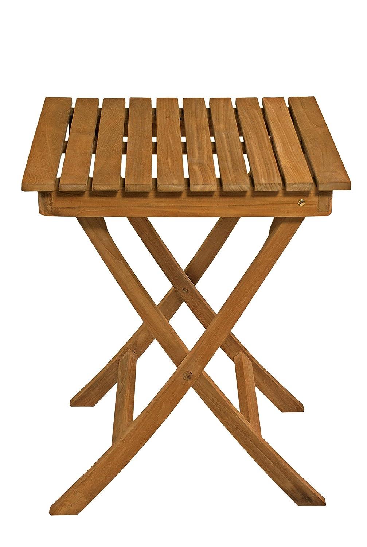 AVANTI TRENDSTORE - Bedani - Tavolo da giardino in legno di Teak, pieghevole, dimensioni: LAP 60x75x60 cm