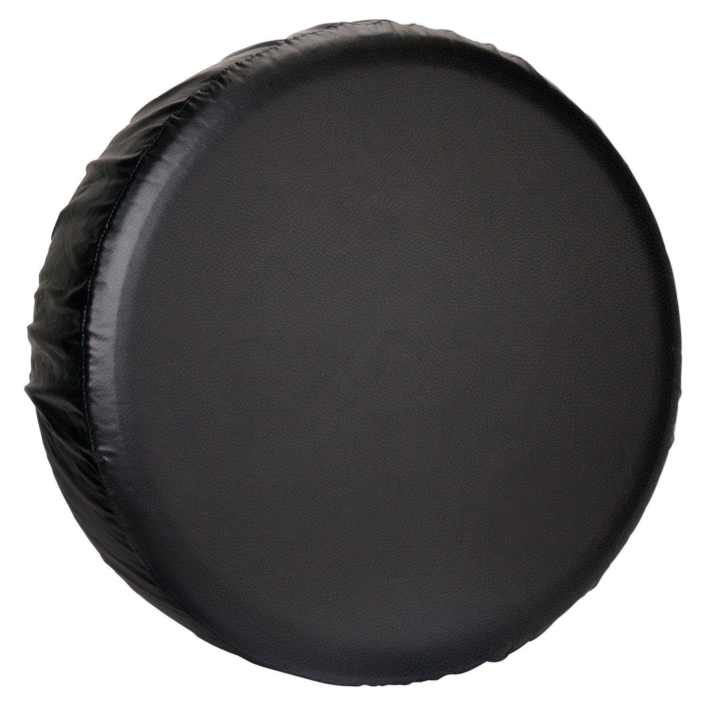 Leader Accessories Univesal Spare Tire Cover for Jeep, Trailer, RV, SUV, Truck Wheel (Black Premium, 20''-22'')