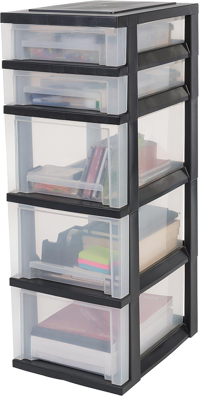 Amazon Com Drawers Storage Drawers With 5 Drawers Plastic