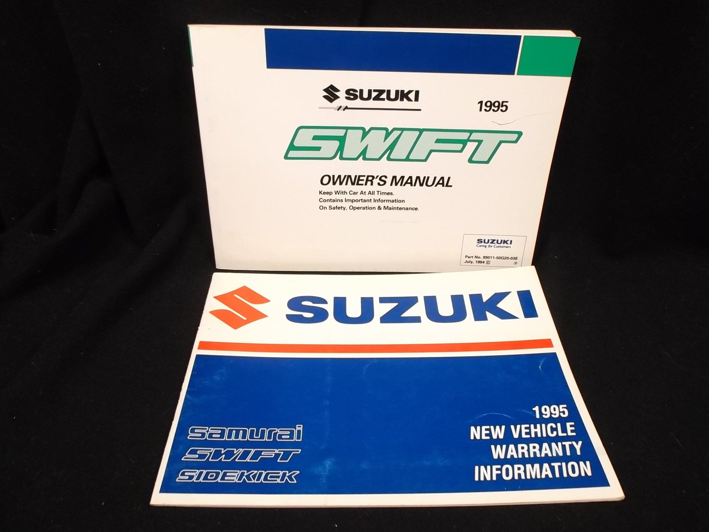 1995 suzuki swift owners manual suzuki amazon com books rh amazon com 1990 Suzuki Swift 2005 Suzuki Swift