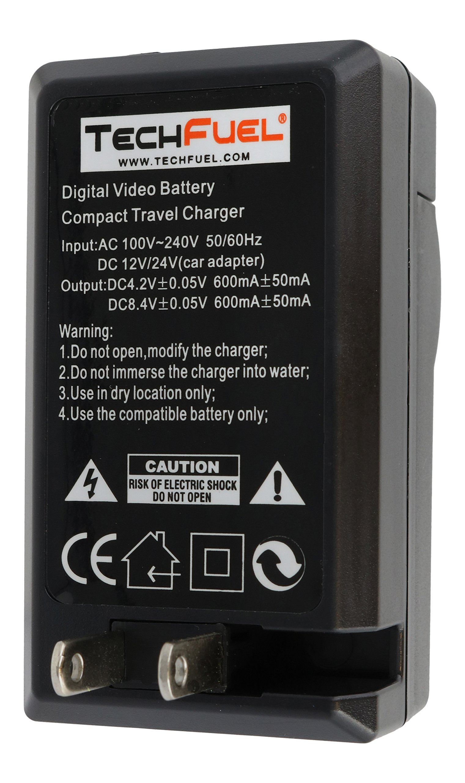 TechFuel Battery Charger Kit for Panasonic HDC-HS9 Camcorder - For Home, Car and Travel Use by TechFuel (Image #4)