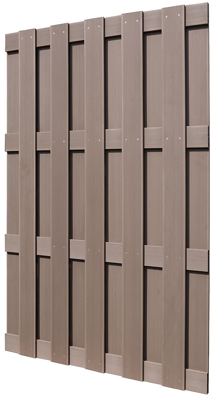 EVERFLOOR Garten Zaun Sichtschutz Zäune WPC 120 x 180 cm Amazon