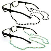 Peeper Keepers Czech Beads & Chains, Eyeglass Retainer, w/Cloth & Screwdriver
