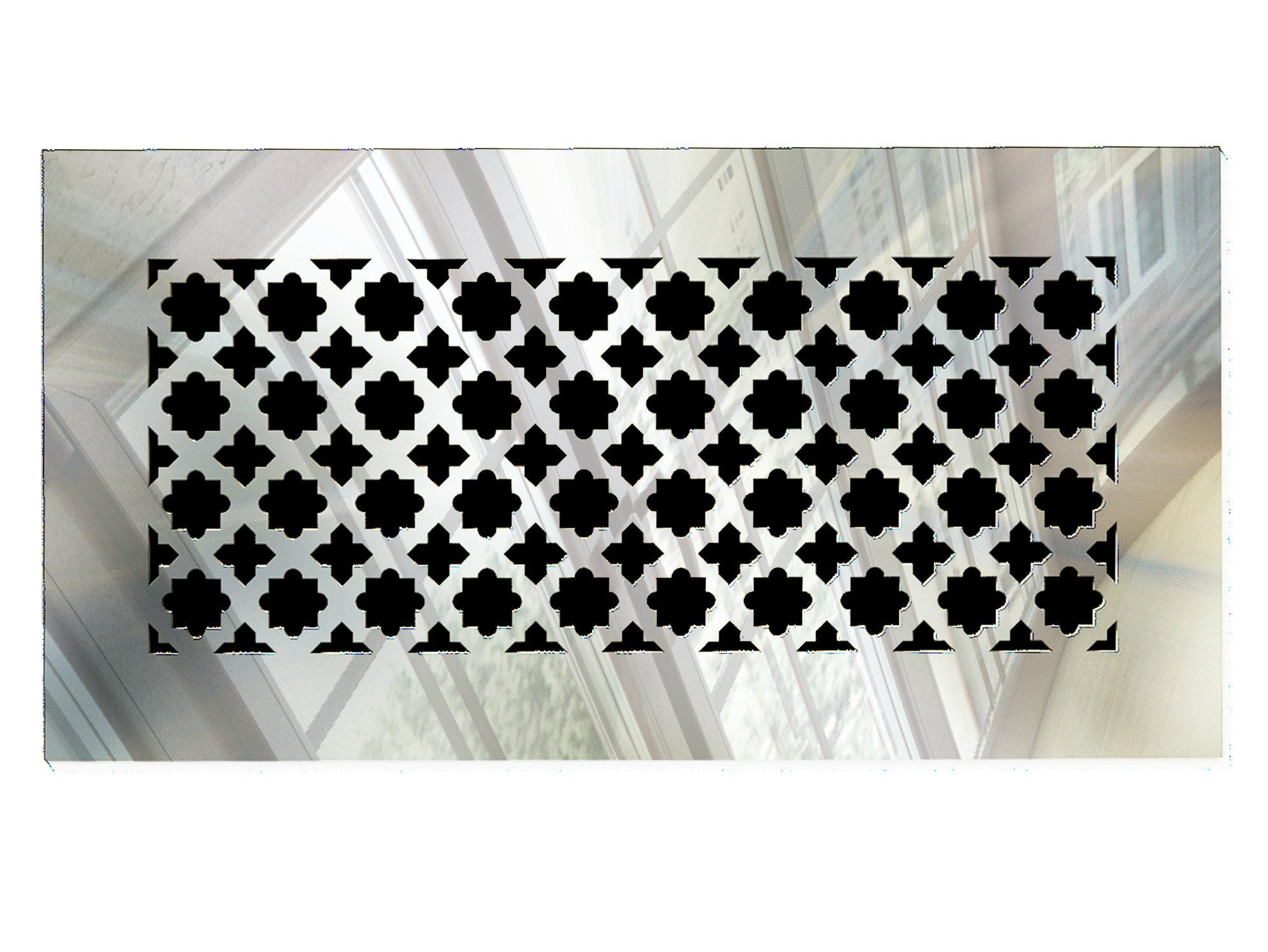 Saba Air Vent Cover Grille - Acrylic Fiberglass 10'' x 6'' Duct Opening (12'' x 8'' Overall) Mirror Finish Decorative Register Covers for Walls and Ceilings not for Floor use, Venetian