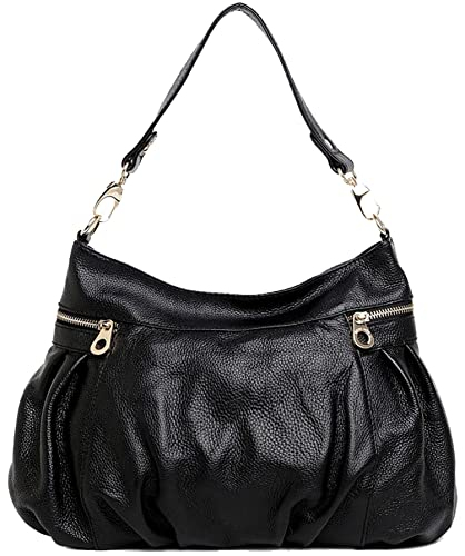 Amazon.com  Heshe Women s Leather Shoulder Handbags Crossbody Bags Hobo  Totes Top Handel Bag Satchel and Purses for Office Ladies (Black.)  Shoes c96f96fa86a10