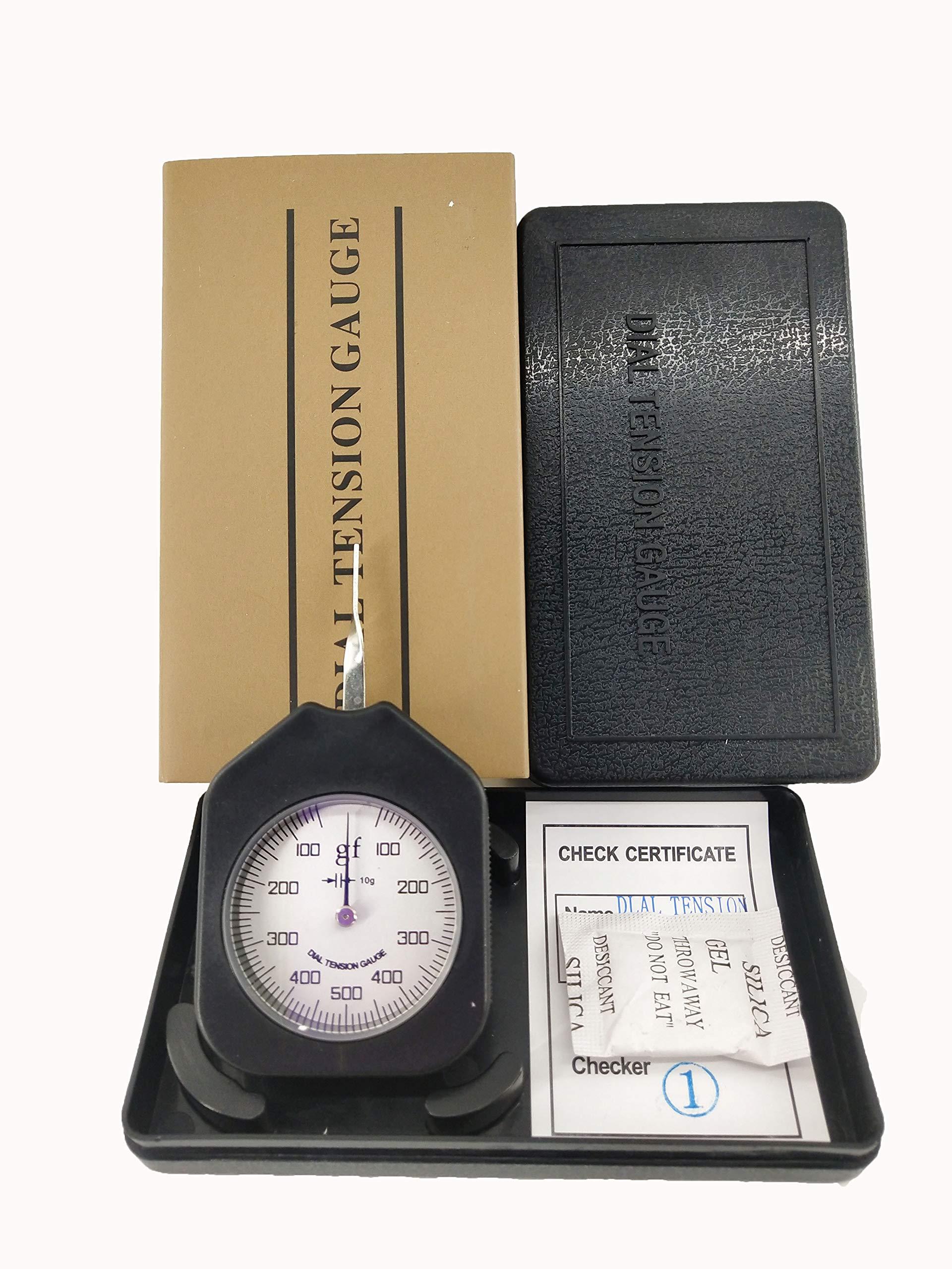 HFBTE ATG-500-1 Single Pointer Tension Meter Gauge Tester with Pocket Size 100-500-100g Measurement Range Gram Force Meter by HFBTE