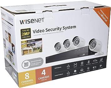 Samsung SDH-B74043BF - Kit de Video vigilancia con Grabador (8 Canales y 4 cámaras) Color Blanco: Amazon.es: Electrónica
