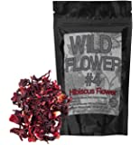 Dried Whole Hibiscus Flowers - Organically Grown -Perfect for Homemade Tea Blends, Potpourri, Bath Salts, Gifts, Crafts Wild Flower #4 (4 ounce)