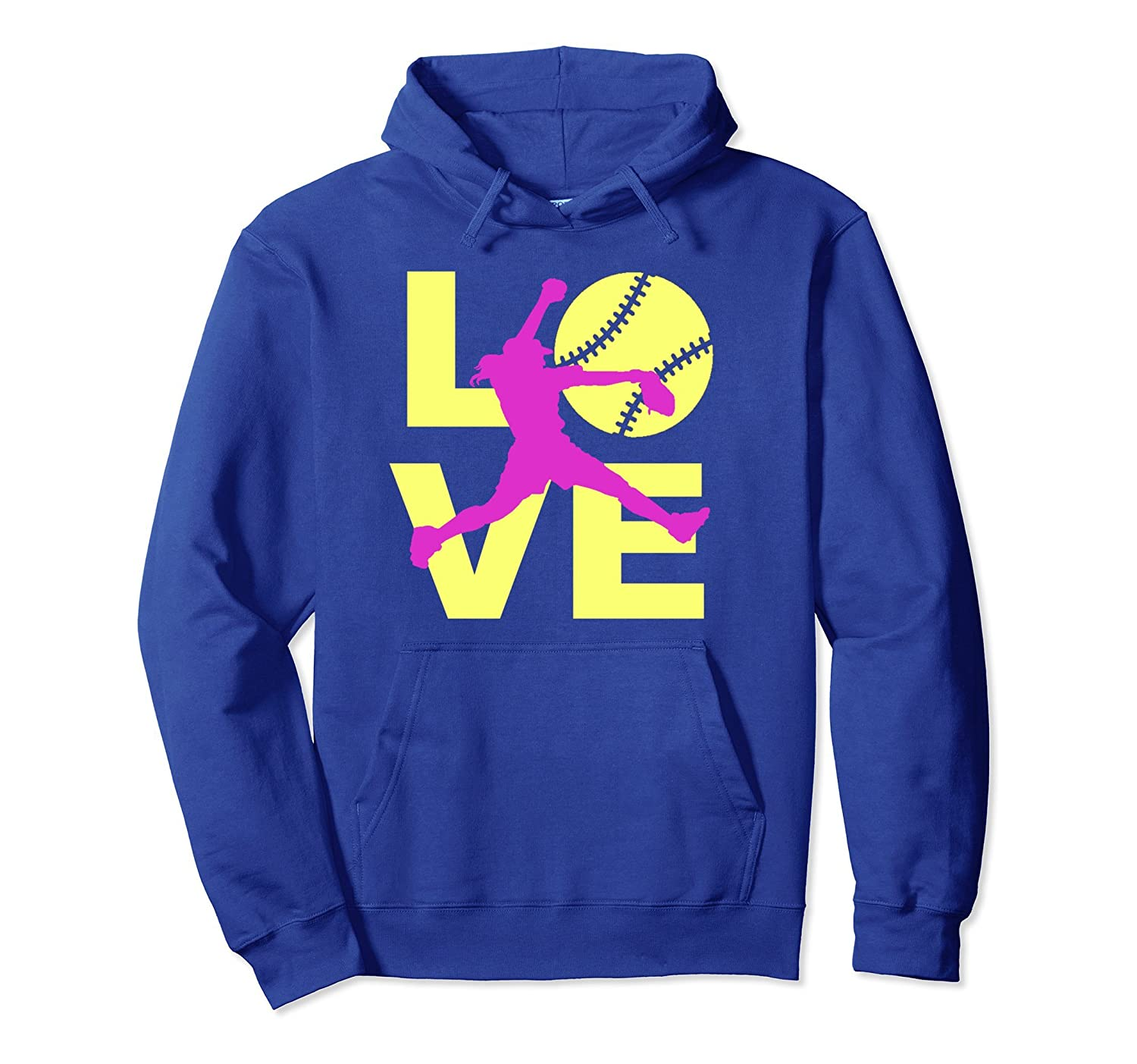 Softball LOVE Player Fast Pitch Teen Girls Women Hoodie-AZP