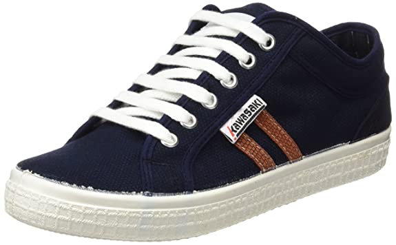 Unisex Adults Country Washed Trainers, Blue Kawasaki