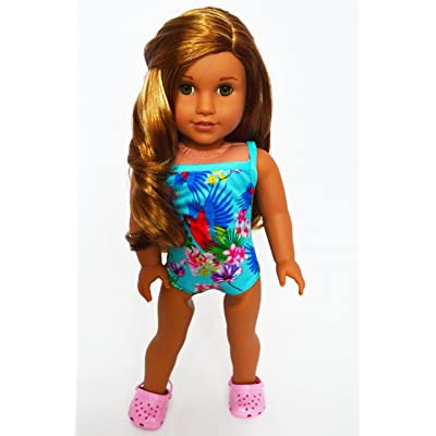 Brittany's Tropical Swimsuit Compatible with American Girl Dolls- 18 Inch Doll Clothes: Toys & Games