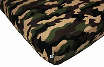 Amazon Com 100 Organic Bamboo Fitted Crib Sheet Camo Best For