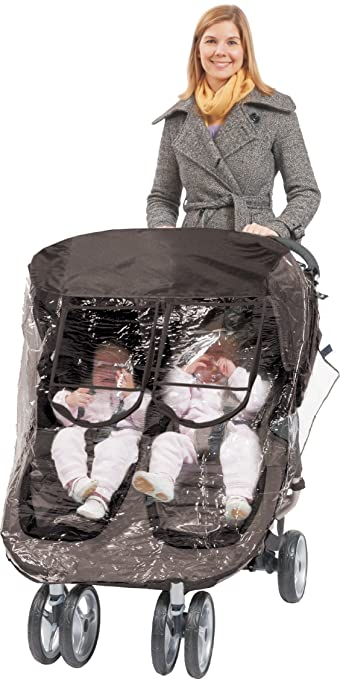 Citi Mini Double Rain-cover Special Designed for the City Mini Double Stroller, Comes with Clear See-Thru Windows with Extra Sun Shade, Plus Protection Net When Window is Open. Comfy Baby
