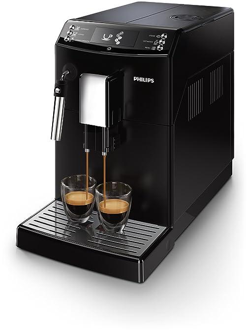 Philips Serie 3000 EP3510/00 - Cafetera Súper Automática, 2 Bebidas de Café, Pannarello Incorporado, Molinillo Ceramico