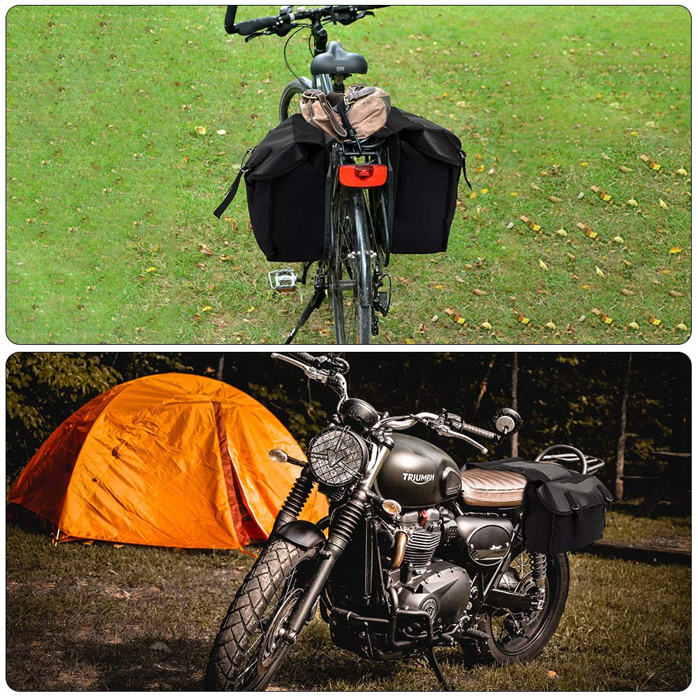 Borsa da Sella Grande capacit/à 1056 Pollici Cubi Borse Laterali con Borsa Posteriore per Moto in Tela Multifunzione per Bicicletta da Montagna. FREESOO Borsa da Valigia da Moto