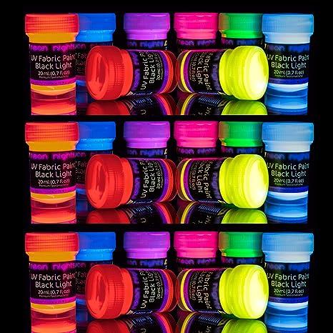 Amazon.com: Juego de 24 latas de tela brillante y pintura ...