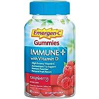 Emergen-C Immune+ Gummies, 750 mg Vitamin C with Vitamin D (45 Count, Raspberry...
