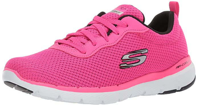 Skechers Flex Appeal 3.0 Sneakers Damen Rosa (Hot Pink)