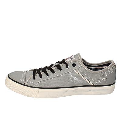 Wrangler Sneakers Herren Segeltuch grau 45 EU: