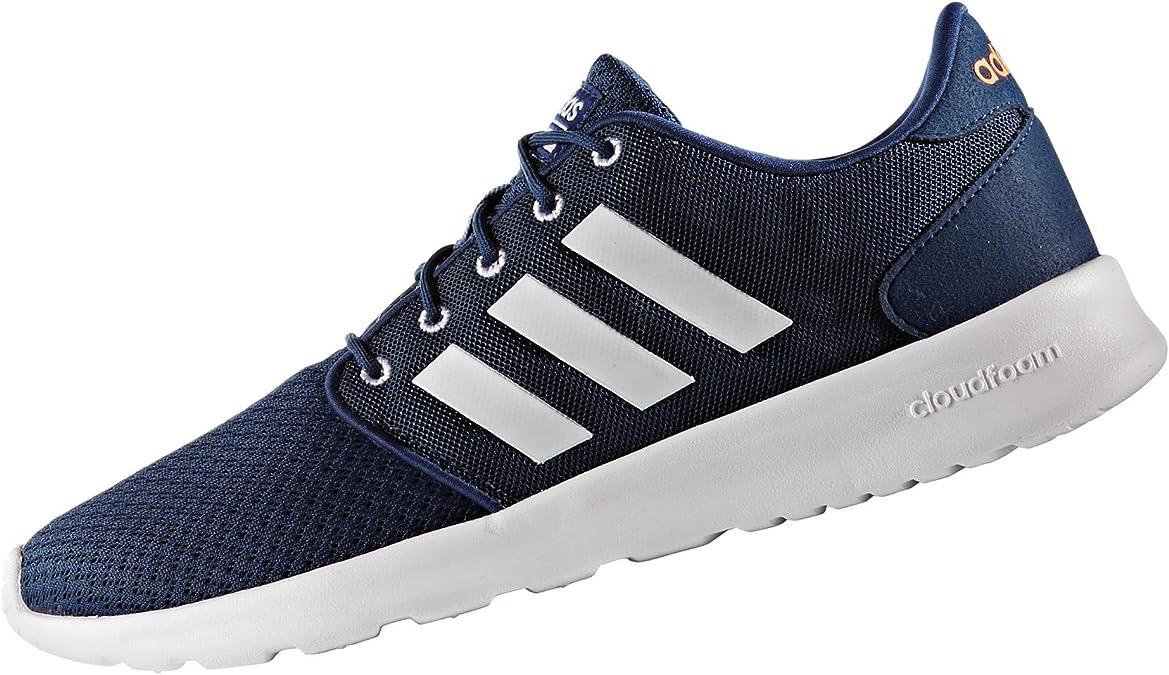 adidas Damen Cloudfoam Qt Racer W Sneaker Low Hals, Blau