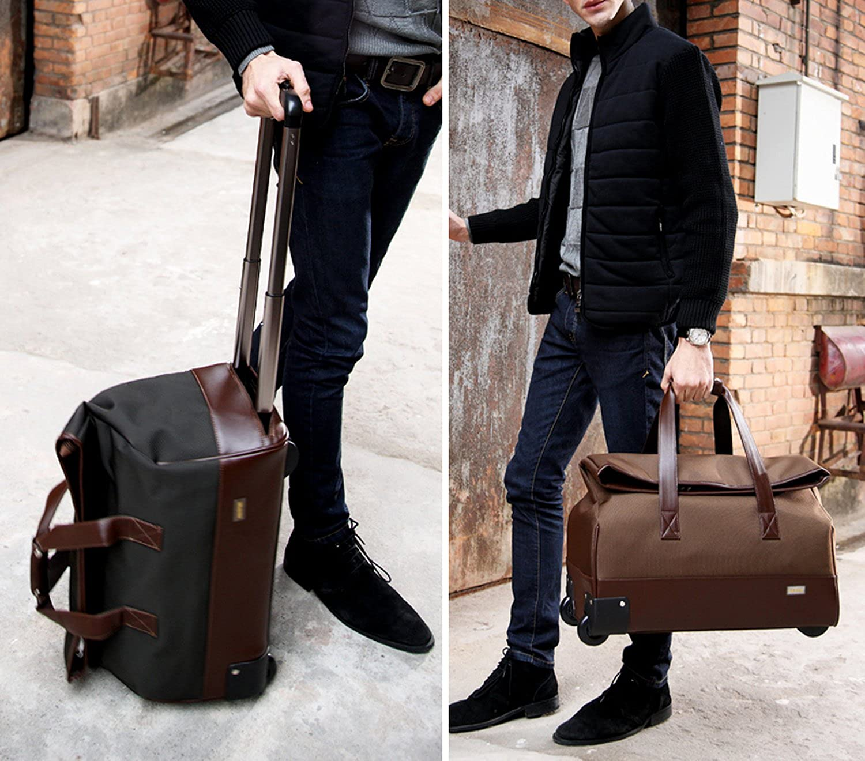 bbc861b5f8 Unisex Trolley Travel Bags On wheels Waterproof Men s Trolley Luggage Travel  Duffle Bag