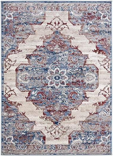 Luxe Weavers Magnolia Oriental Blue 9×12 Area Rug