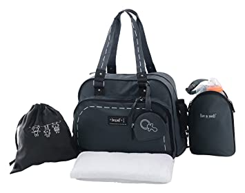 Baby On Board Day To Day Sac à Langer Smoke Gris Noir 32f52dbe3c19