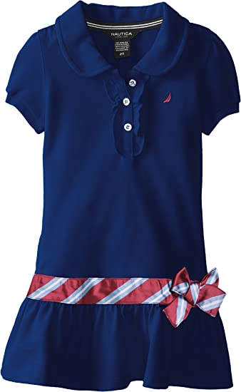 Nautica Little Girls Short Sleeve Polo Dress Nautica Children/' s Apparel