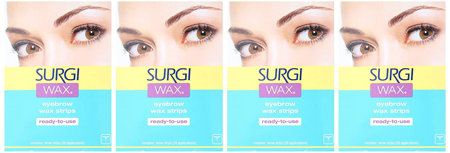 Amazon Surgi Wax Brow Shapers For Brows 28 Strips Pack Of 4