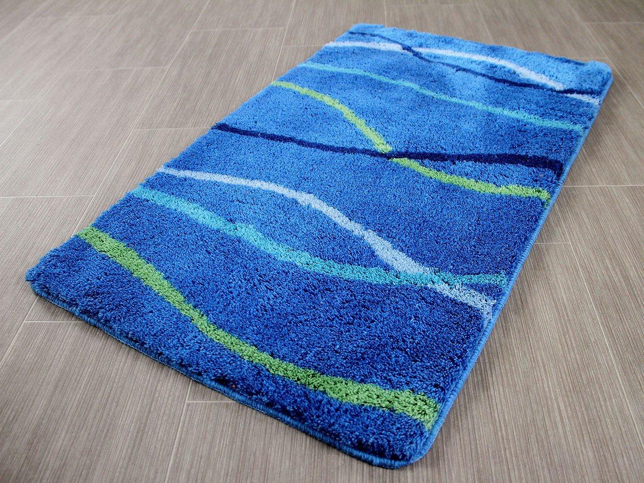 Pacific Badteppich Nevis Blau Streifen in 5 Größen