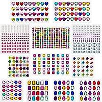 AIEX 770 stuks glitterstenen, sierstenen, strasssteentjes, zelfklevend, acryl, kleurrijk, strasssteentjes, kristal…