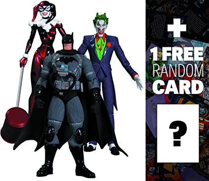 Amazon Com The Joker Harley Quinn Stealth Batman Dc Collectibles Batman Hush 3 Action Figure Box Set 1 Free Official Dc Trading Card Bundle 316628 Toys Games
