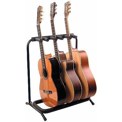 Rockstand plegable soporte de guitarra para 3 guitarras acústicas eléctrica o bajo con acolchado grueso