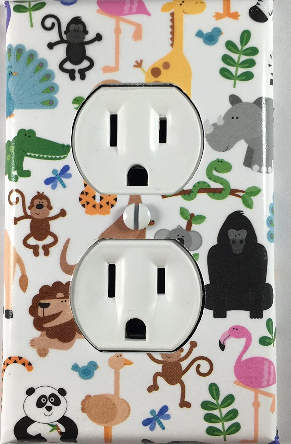 Baby Nursery Zoo Animals Decorative Outlet Cover Wall Plate