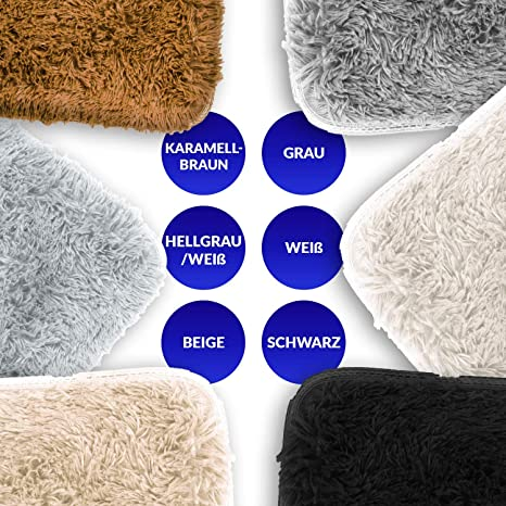 Descente de lit Chambre Grande Taille Tapis Poils Longs Moderne tapid Moquette Poil Long tapi Grise 120 x 160 cm Amazinggirl Tapis Salon Shaggy