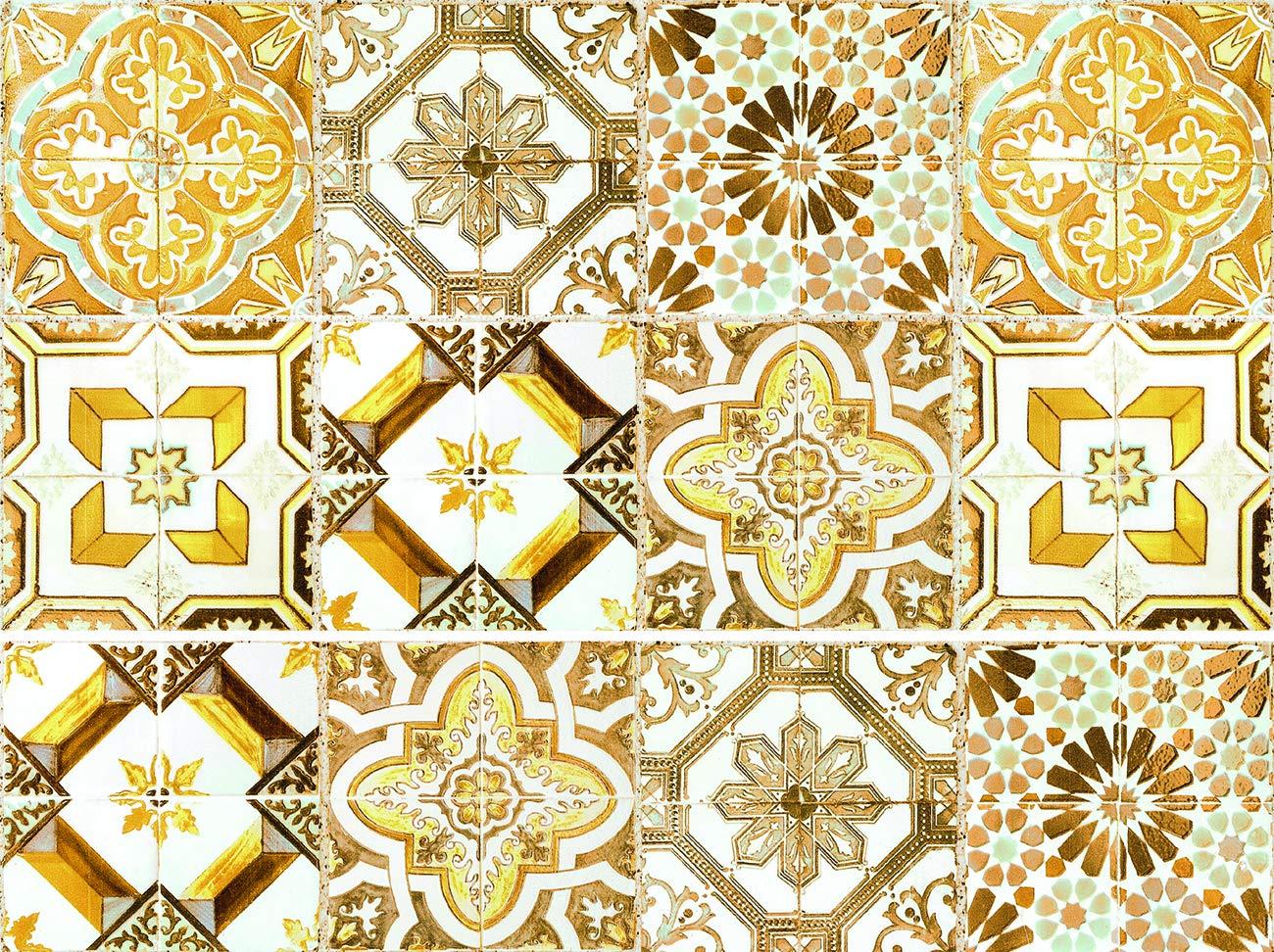 Cuadros Lifestyle Dekorative Stickerfliesen mit tollen Motiven und Ornamenten fü r Wä nde und Fliesen | 12 teiliges Set | seidenmatt, Grö ß e:20x20cm cuadros-lifestyle