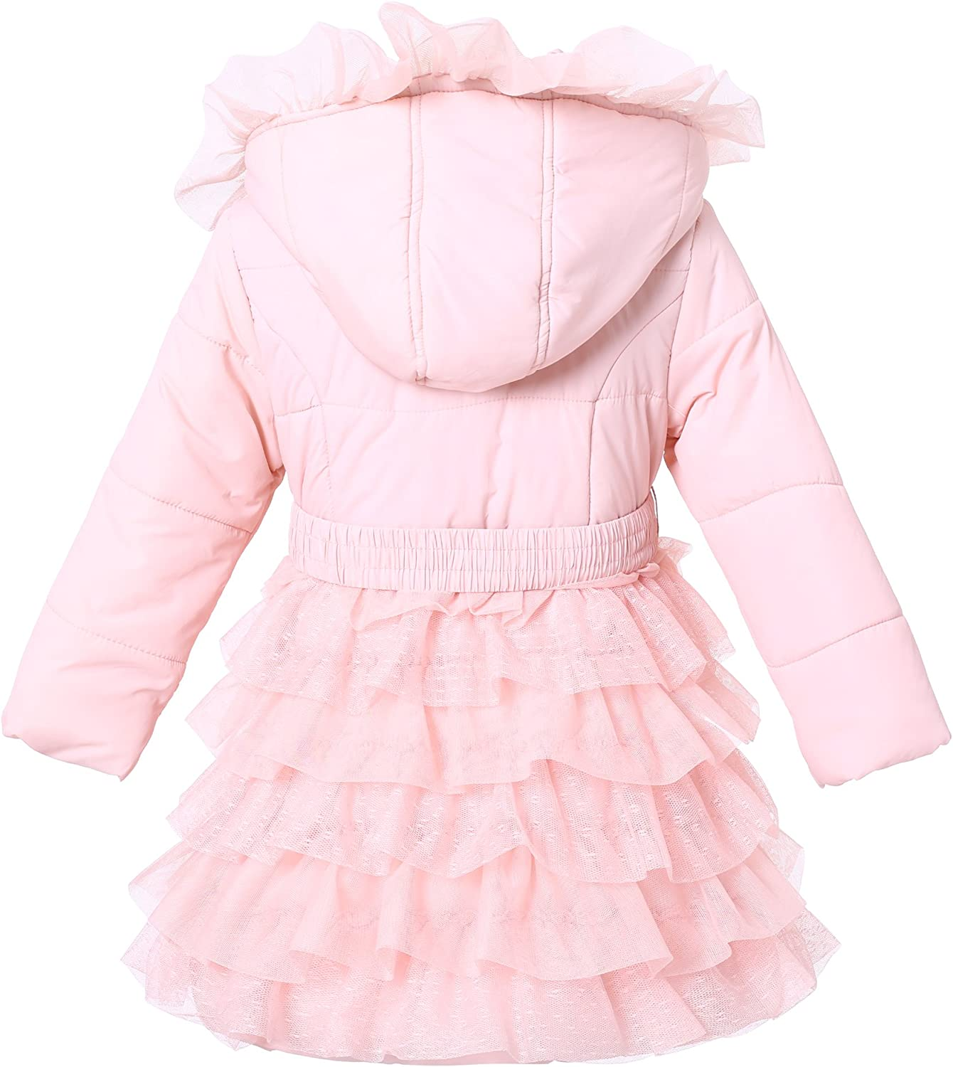 Richie House Girls Padding Jacket with Ruffled Mesh RH1395 Size 3-14Y