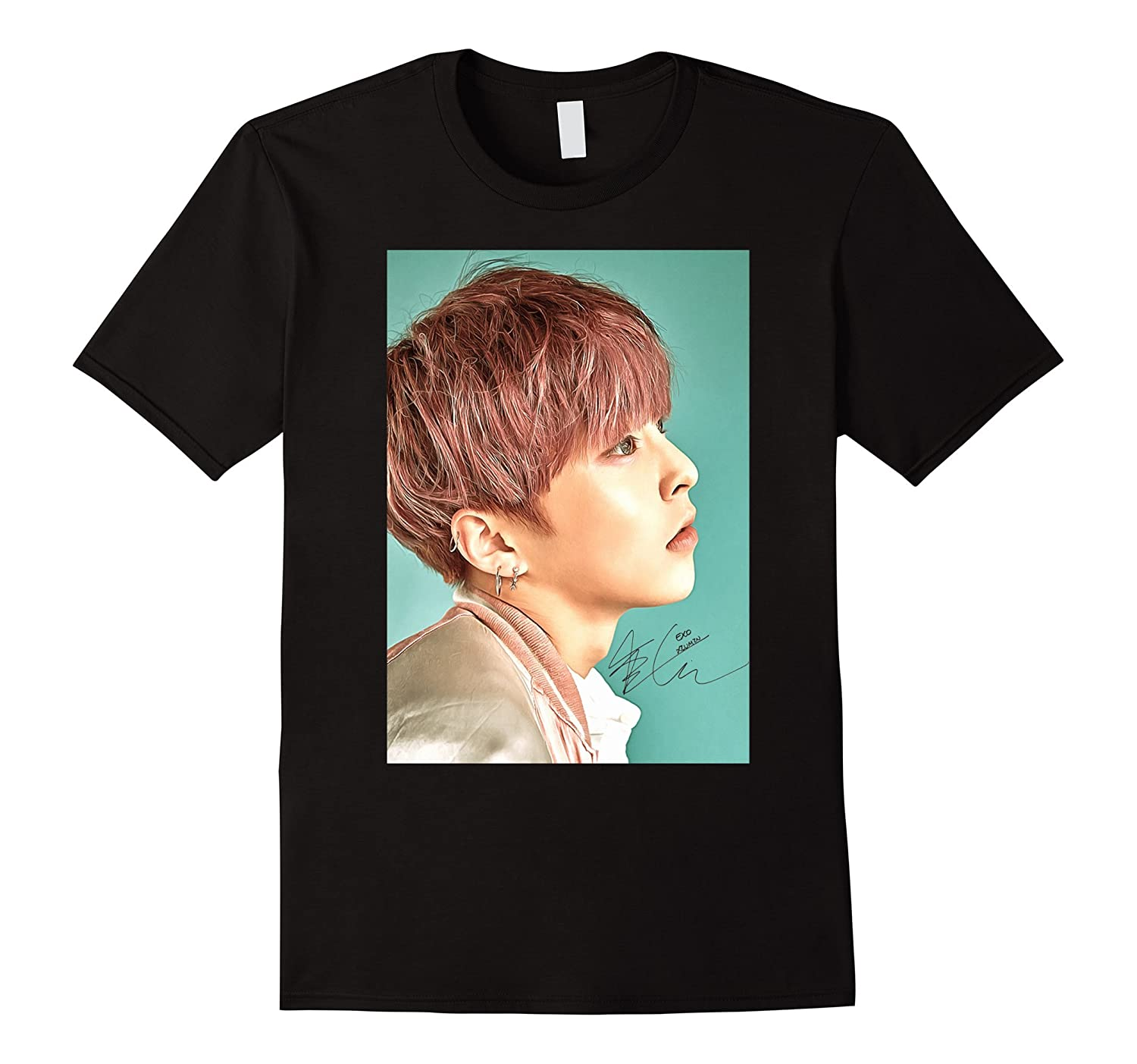 Exo Lucky One Xiumin Sign Painting Graphic Kpop T Shirt Rt
