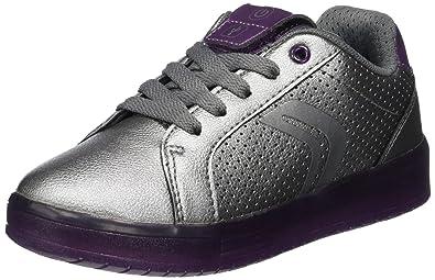 Geox J Kommodor A, Sneakers Basses Fille, Violet (Prune/DK Silver), 29 EU