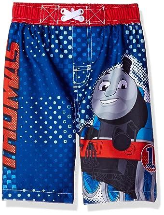 a0c198809b Amazon.com: Thomas Train Boys Blue Swim Trunks Swimwear (4T): Clothing