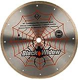 QEP 6-1008BW 10-Inch Black Widow Micro-Segmented Rim Diamond Blade, 5/8-Inch Arbor, Wet Cutting, 6115 Maximum RPM